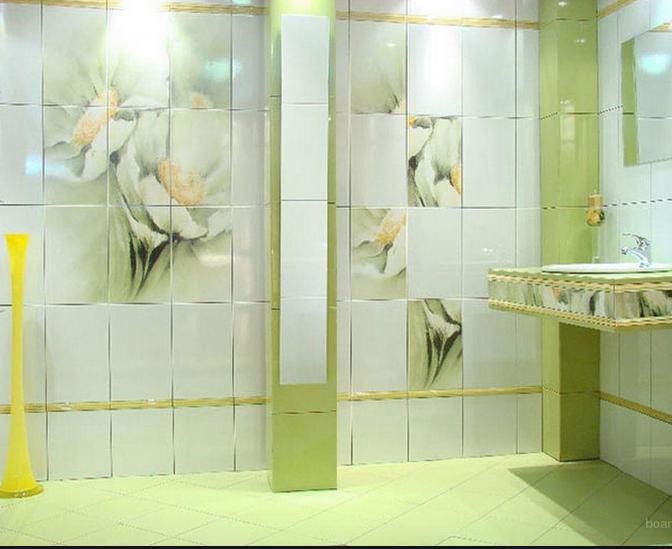 Необычный дизайн для большой ванной комнаты